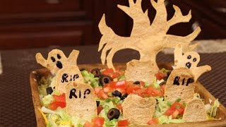 Graveyard Taco Dip-perfect For Halloween By Rockin Robin