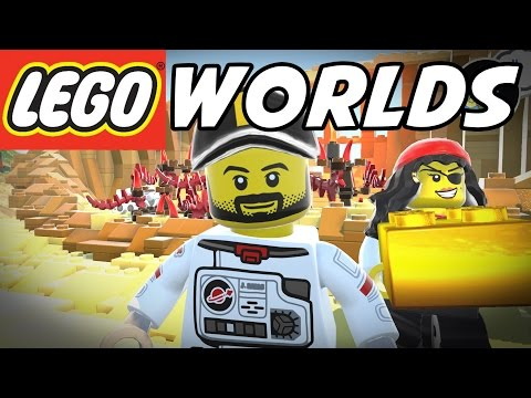 LEGO Worlds - Pirate World Gold Bricks! - Episode 1 - Let's Play LEGO Worlds Gameplay