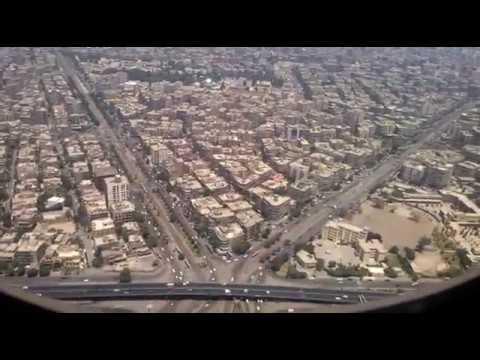 هبوط رائع في مطار القاهرة landing in cairo air port by qatar airwayes