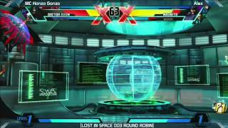 UMVC3: MC Honzo Gonzo vs Alex - Round Robin - LOST IN SPACE 003