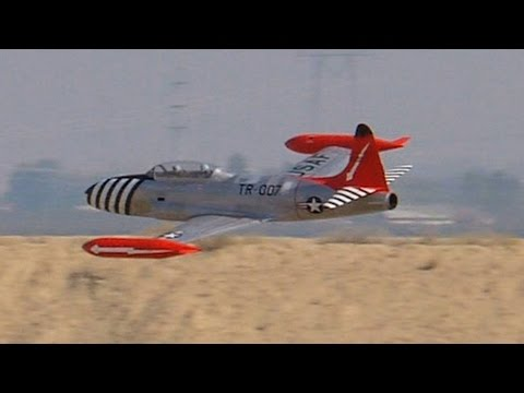 RC Lockheed T-33 gas turbine Jet at Best in the West 2015