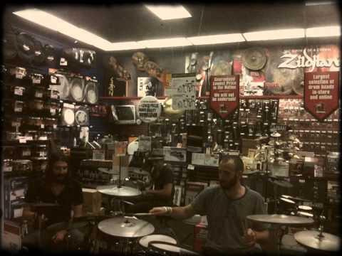 Zach, David, & Dietrich Electronic Drum Jam at Guitar Center in Des Moines, IA