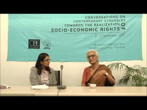 Conversations   Prof. Susie Tharu   THE REALISATION OF SOCIO-ECONOMIC RIGHTS