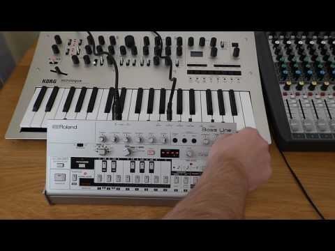 Korg Minilogue & Roland TB03 Bass Line
