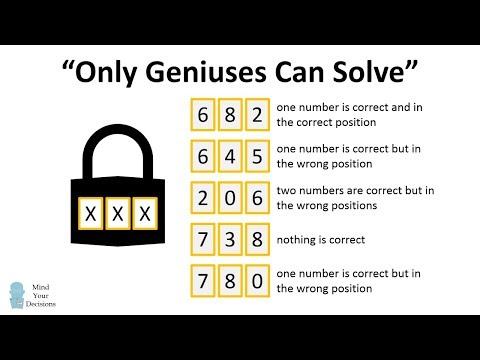 """Can You Crack The Code? """"Only Geniuses Can Solve"""""""