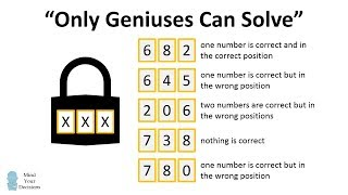"Can You Crack The Code? ""only Geniuses Can Solve"""