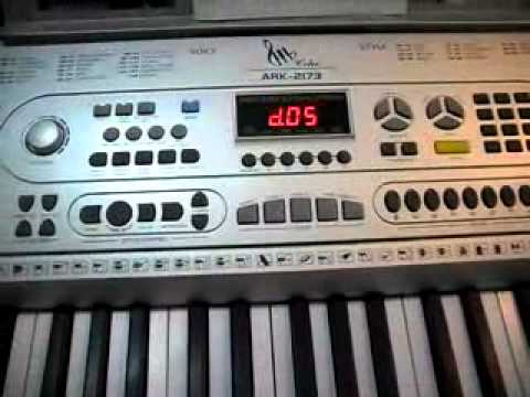 ARK 2173 electonic keyboard demo 2