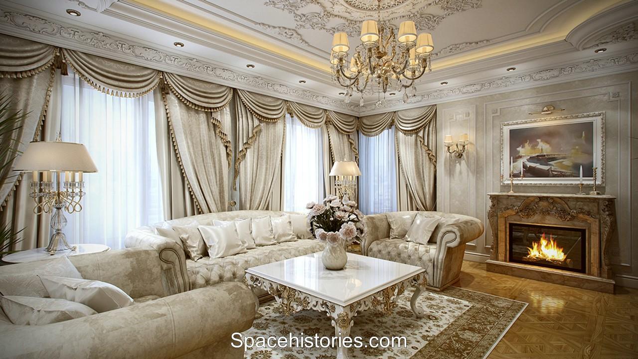 rancangan interior rumah ala prancis
