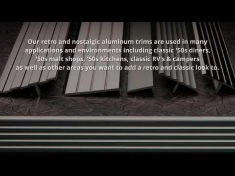 Retro & Nostalgic '50s Countertop and Aluminum Table Trims