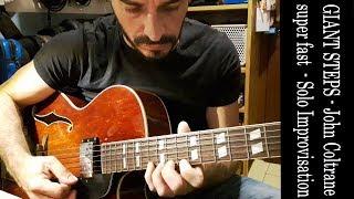 Giant Steps - John Coltrane - Jazz Guitar improvisation - original speed 286 bpm - Moreno Viglione Resimi