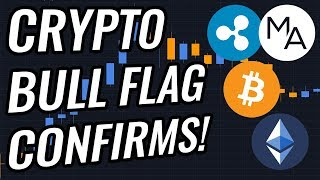 Crypto Bull Flag Confirms! Can Bitcoin Stay Above $4,000?! BTC, ETH, XRP, Crypto & Stocks News!