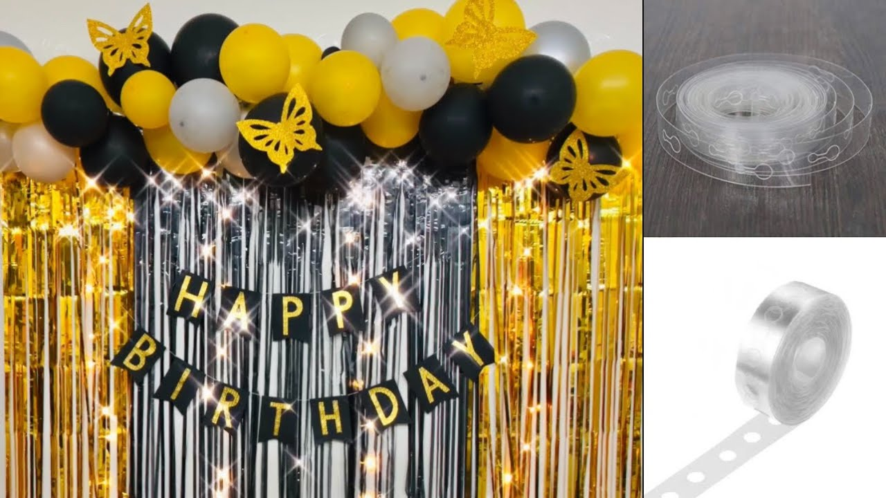 Download Black & Gold Theme Balloon Decoration for Male
