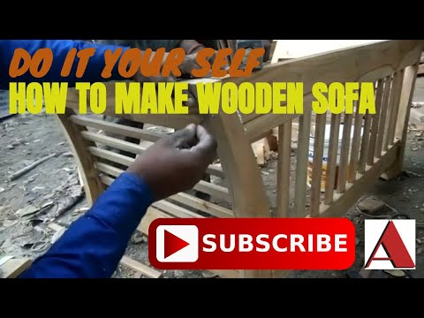 Wooden Sofa Frame,  EASY, DIY, TUTORIAL, MAKING by all about AAFD