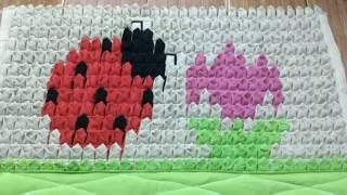 Tapete decorado de retalhos (joaninha)