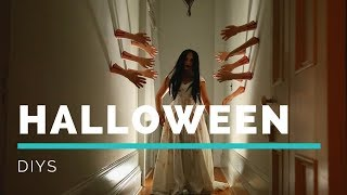 DIY HAUNTED HALLOWEEN DECOR | Creepy Collab with The DOMESTIC GEEK!!!