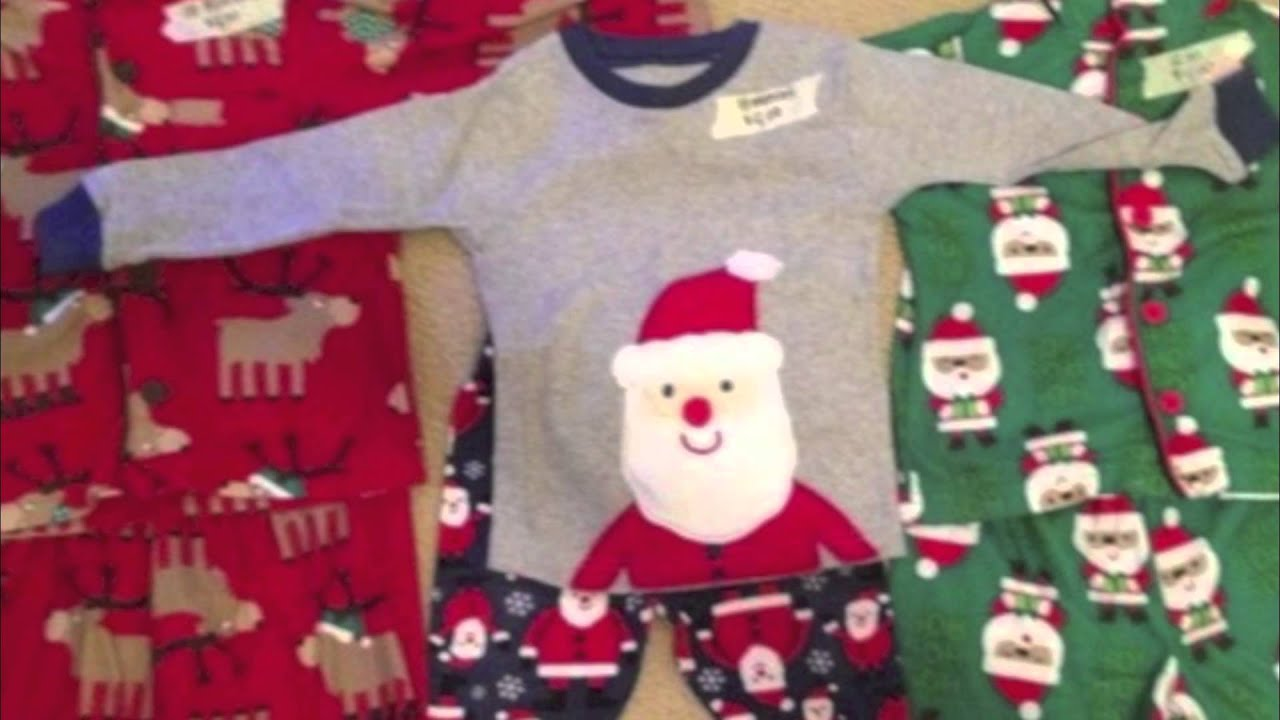 Matching family christmas pajamas for kids with adult mens & women