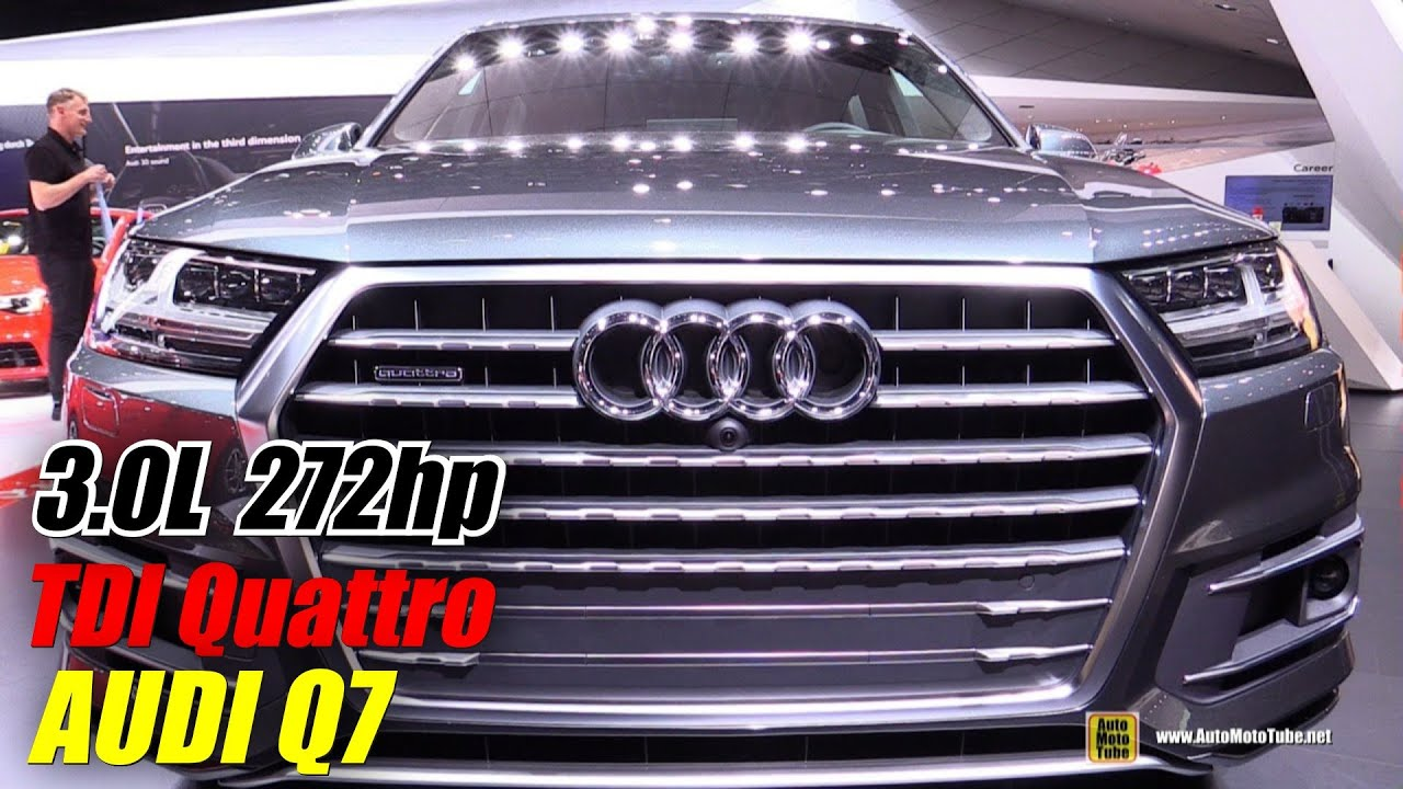 2016 Audi Q7 TDI Quattro Exterior and Interior Walkaround Debut at 2015 Detroit Auto Show