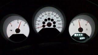 Repairing Chrysler Sebring | Dodge Caliber | Dodge Avenger | Instrument Cluster Light
