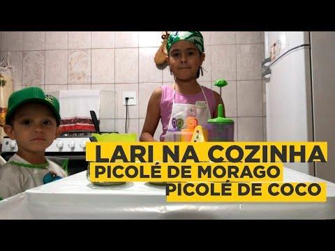 Lari Na Cozinha #1: Picolé | #VlogDaLari