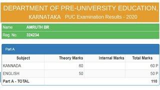 Karnataka 2nd PUC Result 2020 || How To Check PUC karnatka Result 2020 karnatka 12th result