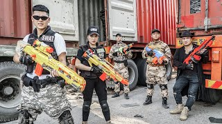 LTT Game Nerf War : COUPLE Warriors SEAL X Nerf Guns Fight Crime Braum Crazy SCAMMERS Wicked