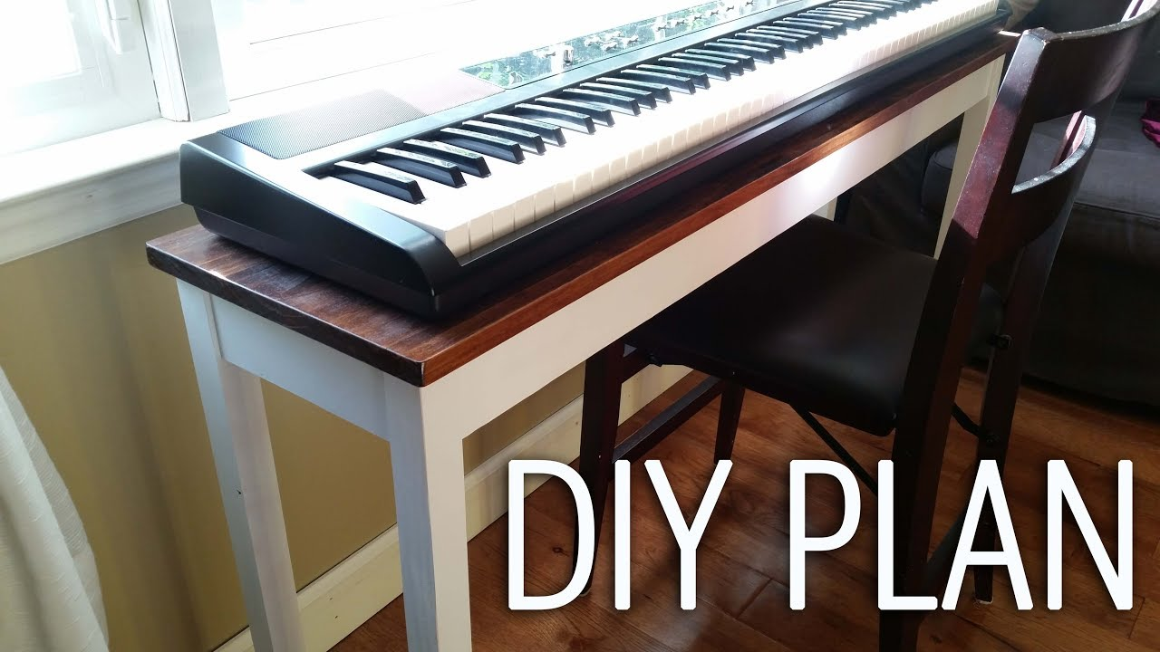 Make an electronic piano/keyboard stand - DIY - YouTube