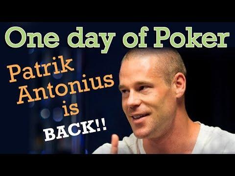 Patrik Antonius is back on the live poker scene