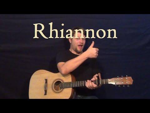 Rhiannon (FLEETWOOD MAC) Easy Guitar Lesson Strum Chords Am - F - C ...