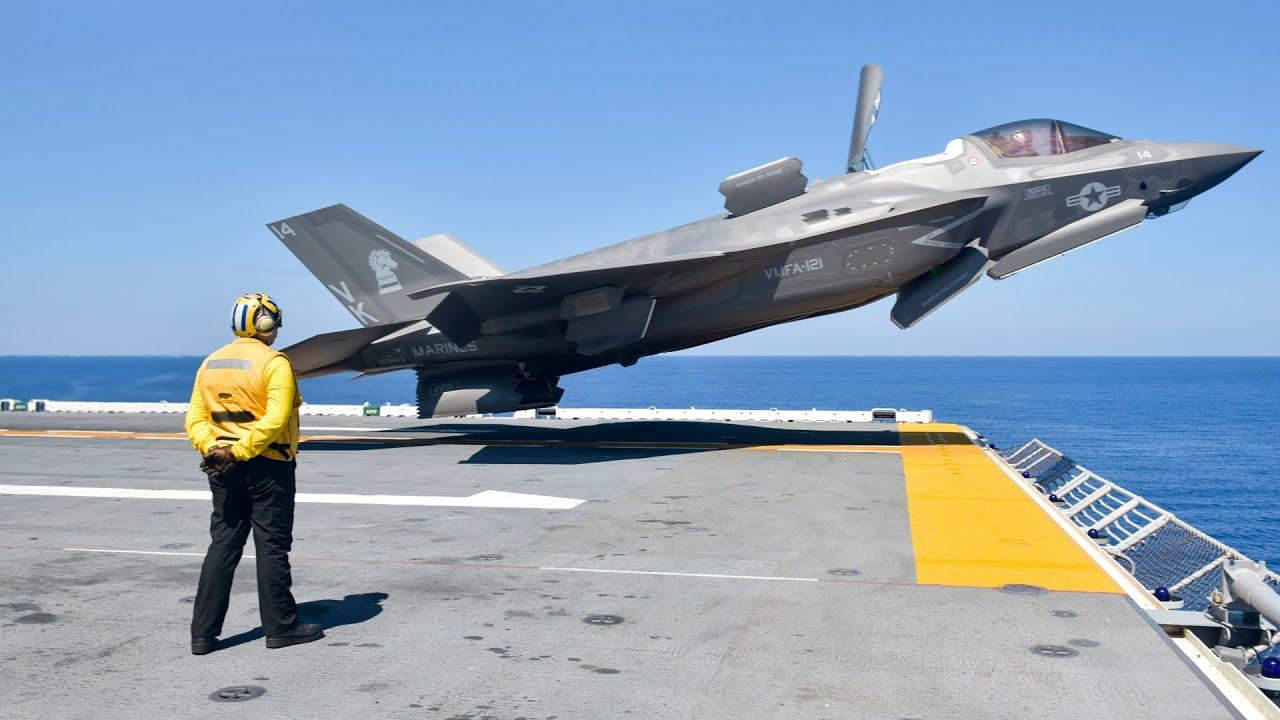 ABD F-35 Dikey Kalkış Sırasında Çılgın Yeteneğini Gösteriyor