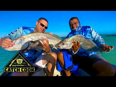 Kob fishing off inflatable boat | catch cook | Tip of Africa