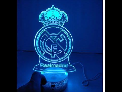 Aliexpressdan kelgan tovarlar. 3d lampa Real Madrid logo