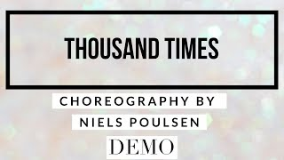 THOUSAND TIMES line dance demo, choreography by Niels Poulsen