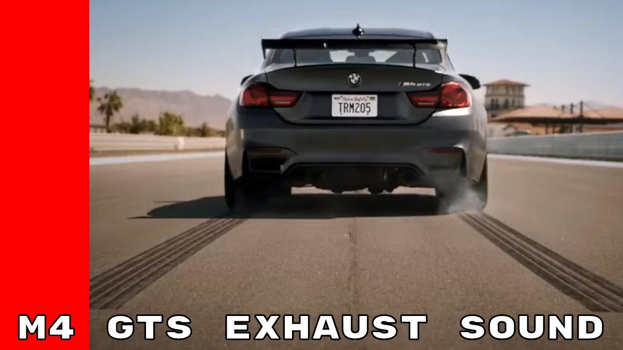 Bmw M4 Gts Exhaust Sound Youtube
