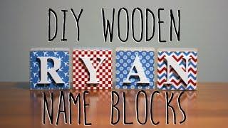 DIY Wooden Name Blocks
