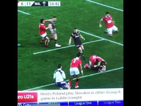 Huge hit on Cory Allen Wales v Tonga