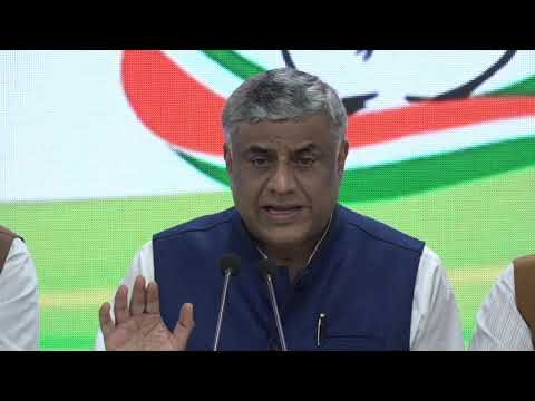 AICC Press briefing by Prof. Rajeev Gowda and Pawan Khera at Congress HQ on the Electoral Bonds