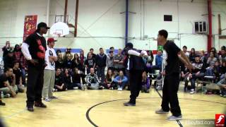 Big Chocolate & Robot Rob vs. E-Boggie & Micah | Popping Semi | Deuces Wild | www.bboyfed.com