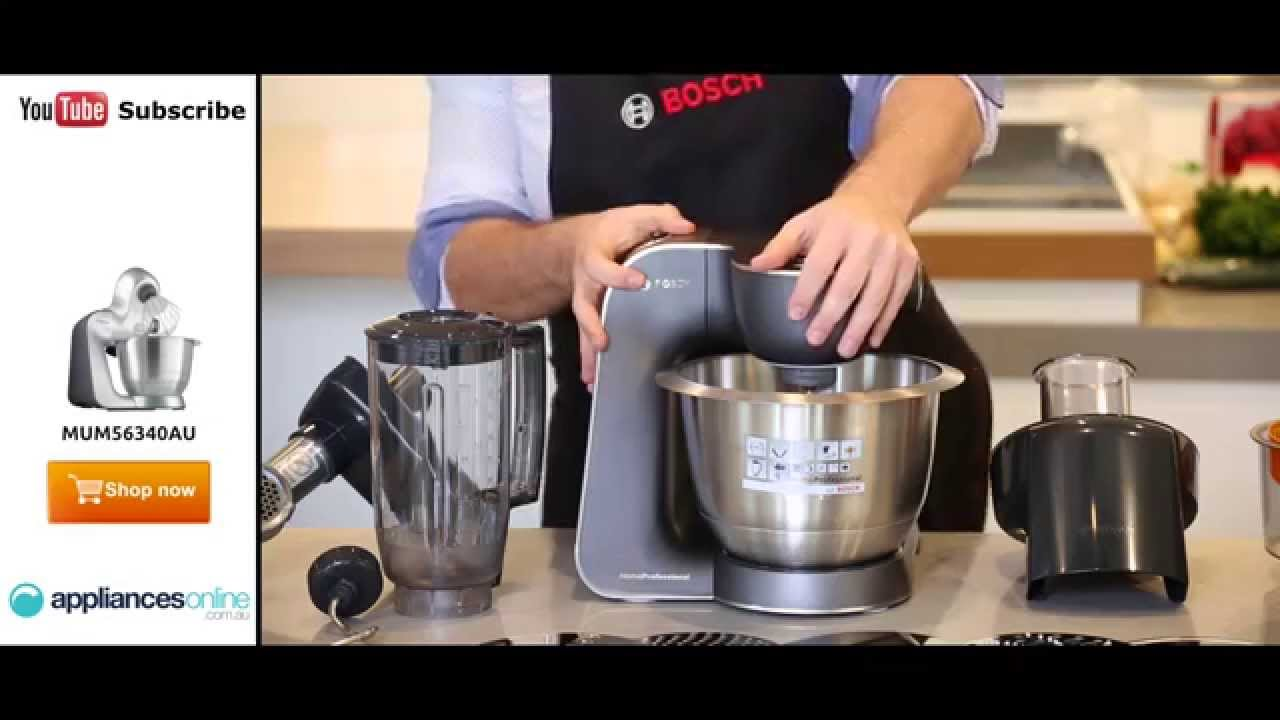 Bosch MUM56340AU MUM5 900W Food Mixer unboxed with all the ...