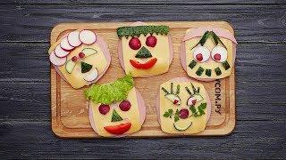 Бутерброды-смайлики - Рецепты от Со Вкусом