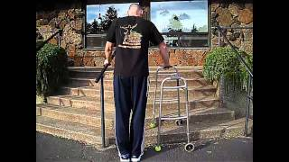 How to Go Up and Down Stairs SAFELY wth a Walker