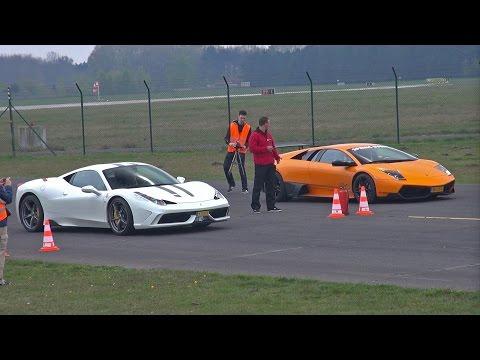 Ferrari 458 Speciale vs Murciélago LP670-4 SV vs 991 Turbo vs McLaren 12C