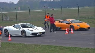 Ferrari 458 Speciale vs Murciélago LP670-4 SV vs 991 Turbo vs McLaren 12C