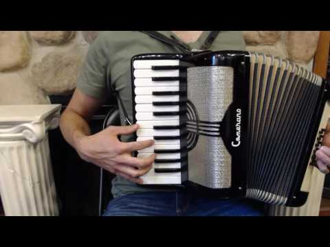 How to Play a 12 Bass Accordion - Lesson 4 - Scale in C Major - French Can-Can