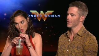 Gal Gadot & Chris Pine interview Wonder Woman