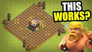 THIS ACTUALLY WORKS LOL! 🔥 Clash Of Clans TOWN HALL TROLL! 🔥