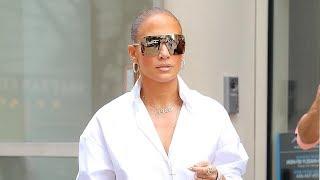 Jennifer Lopez Rocks Over-the-Top Thigh-High Versace Denim Boots