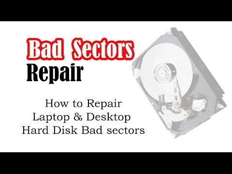 Repair laptop or desktop hard disk bad sectors within 1 hour.