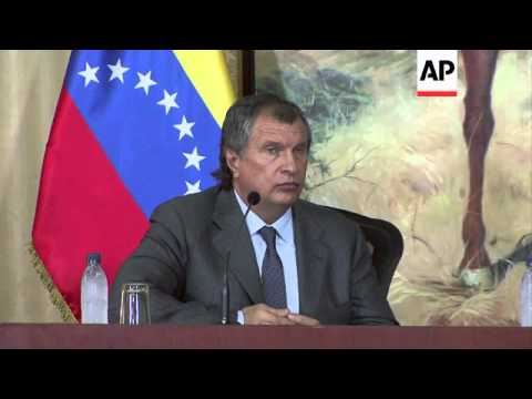 Rosneft boss brings get well message for Chavez from Putin