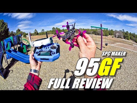 SPC MAKER 95GF Micro FPV Racing Drone - Full Review - [Unboxing, Inspection, Flight / CRASH! Test]