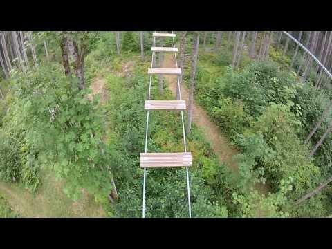 Northwest Trek Zip Line. Adventure Course.